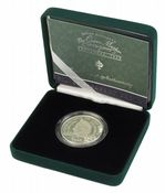 2002 Silver Proof Piedfort £5 Coin Queen Mother